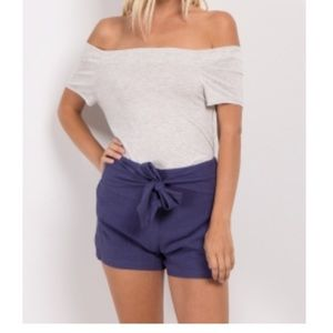 Pink Blush Linen Shorts